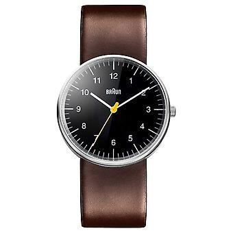 Braun Mens Brown Leather Strap BN0021BKBRG Watch