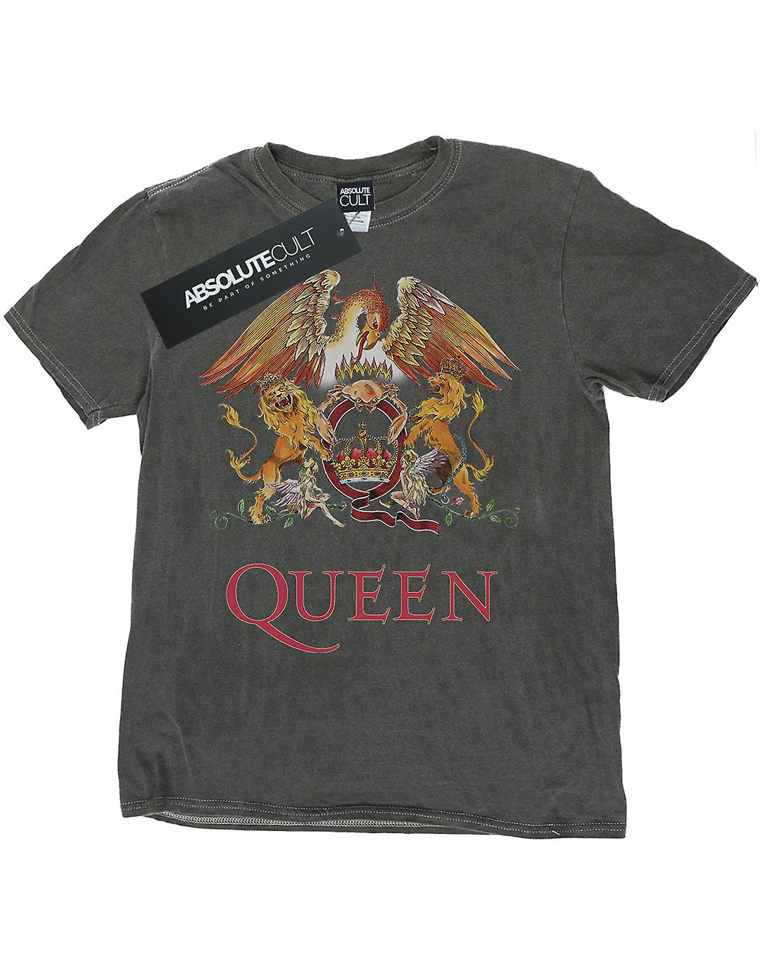 Queen Men's Crest Logo Washed T-Shirt
