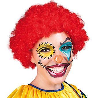 Peruukki hiukset punainen Afro kihara