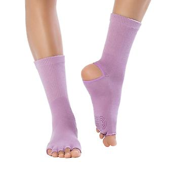 Knitido Yoga socks yoga flow, non slip toe socks for yoga, Pilates, and dance with open toes and grip, cotton, for ladies and gentlemen