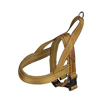 MNC Pet Products Marine T-Harness for Dogs Neoprene Padding, Gold