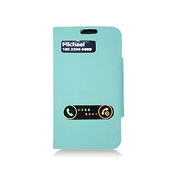 KuKu Mobile Leather Folio Case Cover for Samsung Galaxy S3 I9300 - Blue
