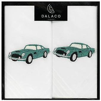 Dalaco Classic Car Handkerchiefs - White