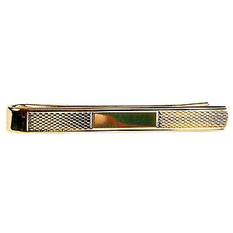 David Van Hagen Barley Pattern Tie Slide - Gold