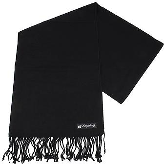 Knightsbridge Neckwear tavallinen huivi - musta