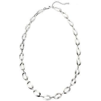 Начало атласная овальные ссылку ожерелье - серебро