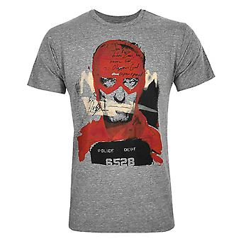 Junk Food The Flash Mugshot Men's T-Shirt Charcoal
