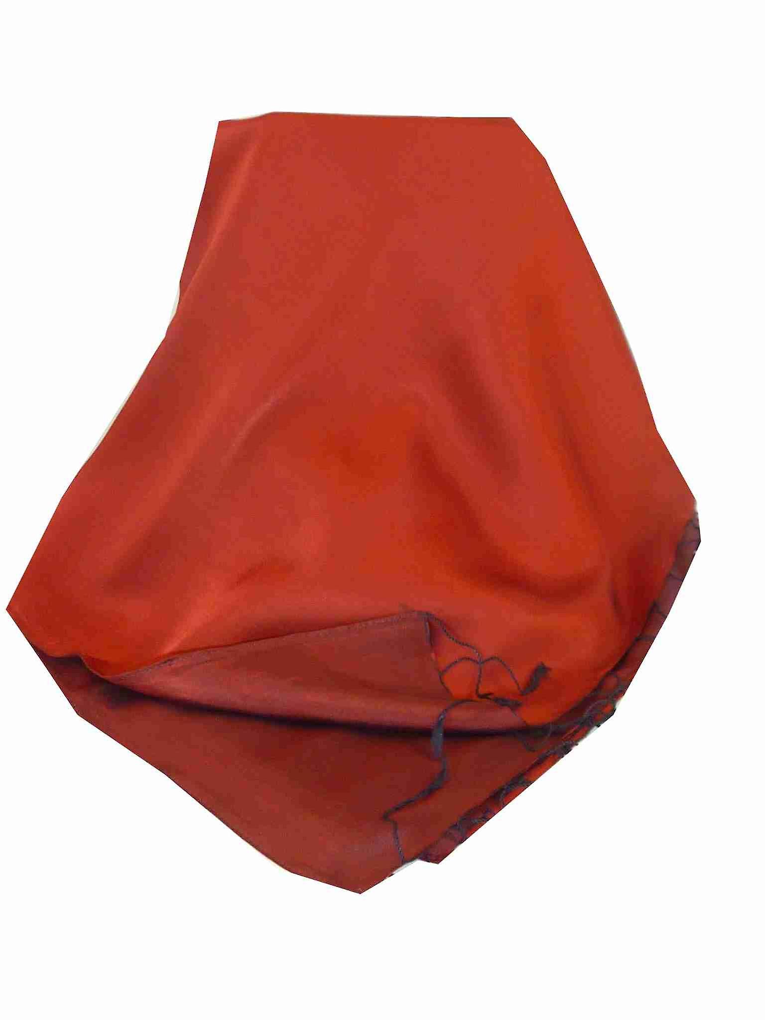 Vietnamese Reversible Silk Shawl Cham-Pa Ruby & Amber by Pashmina & Silk
