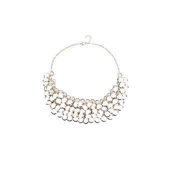 Lovemystyle Gold Halskette mit weißen Steinen