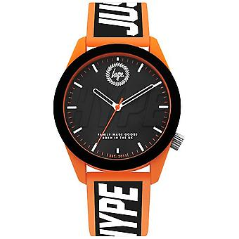 Hype | Mens | Orange And Black Silicone Strap | HYG018BO Watch