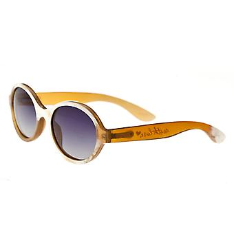 Bertha Laurel Buffalo-Horn Polarized Sunglasses - Honey/Black