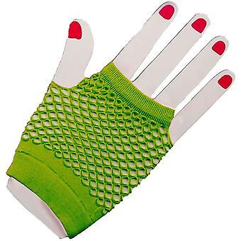 Gloves Fingerles Fishnet Green