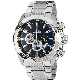 Festina Mens Chronograph Stainless Steel Black Dial F16488/3 Watch