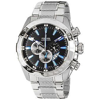Festina Mens kronograf Stainless Steel Black Dial F16488/3 Watch