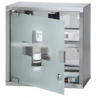Medicine cabinet Stainless Steel With Glass Door 30X12X30CM