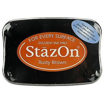 Tsukineko StazOn Ink Pad - Rusty Brown