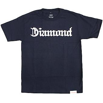 Diamond Supply Co Diamond 4 Life T-shirt Navy