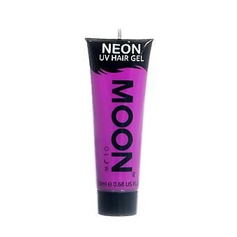 Moon Glow - 20ml Neon UV Hair Gel - Temporary Wash-out Hair Colour - Purple