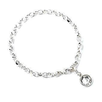 Harry Potter Sterling Silver Charm Bracelet with Swarovski Crystal