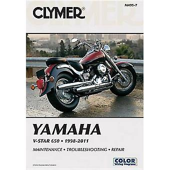Clymer Yamaha V-Star 650 1998-2011 by Ron Wright - 9781599696195 Book