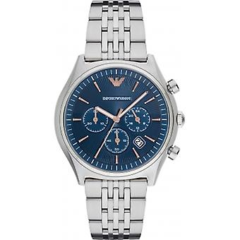 Ar1974 Emporio Armani Men ' s Dress relógio de prata