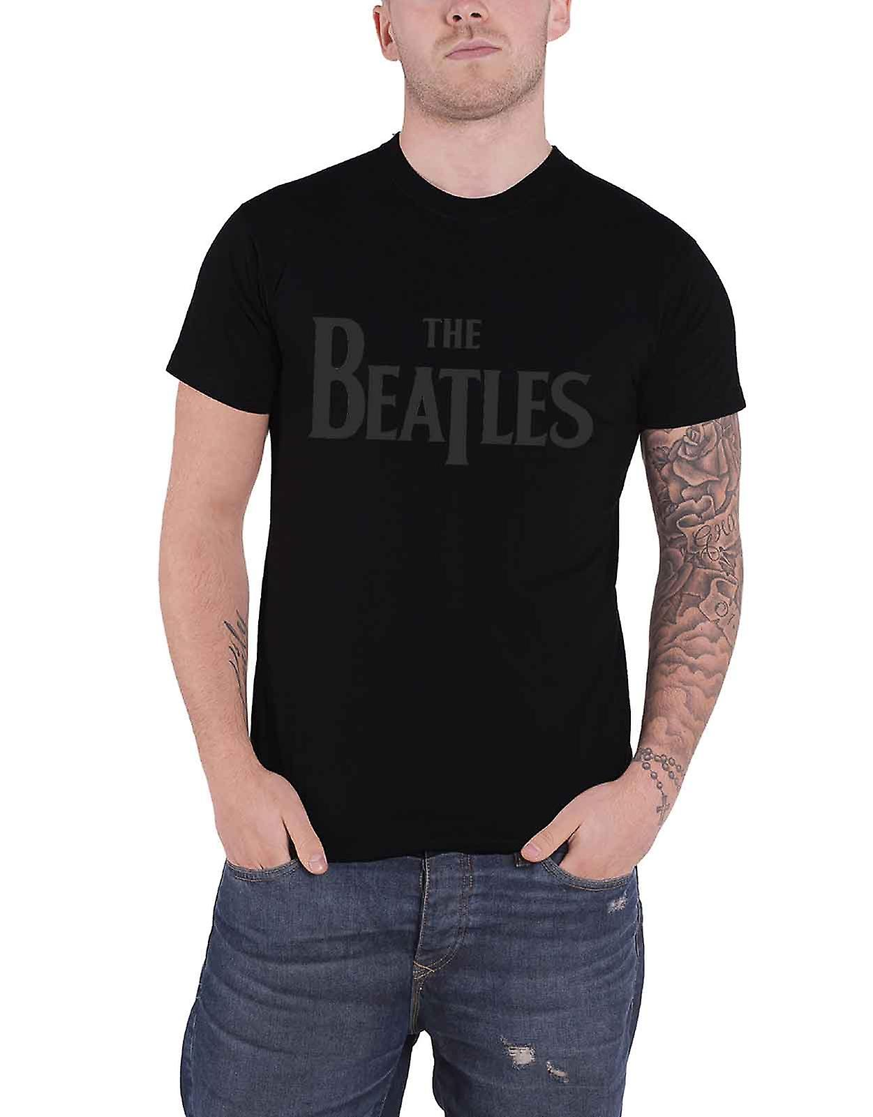 New Men/'s The Beatles Black T-Shirt