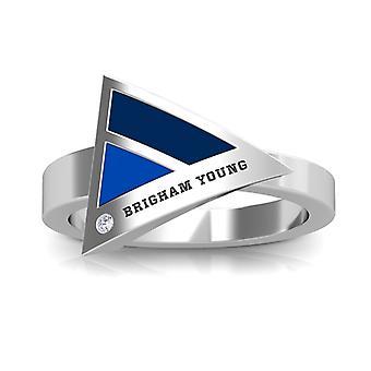 Brigham Young University diamant ring i sterling sølv design af BIXLER