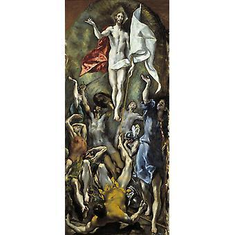 La Resurrección, El Greco, 80x36cm