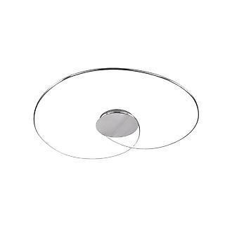 Wofi Opus - Dimmable LED 1 Light Flush Ceiling Light Brushed Aluminium - 9422.01.63.8900