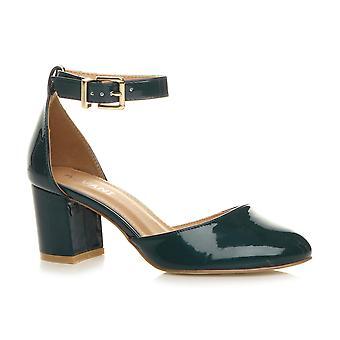 Ajvani womens basso metà caviglia tacco blocco mary jane Corte scarpe sandali