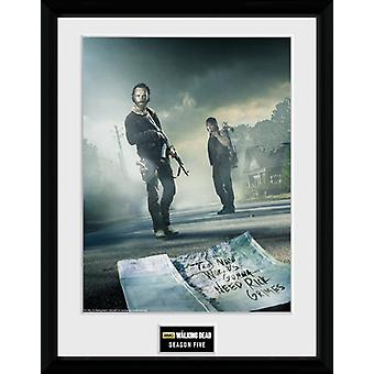 Walking Dead säsong 5 inramade Collector Print 40x30cm