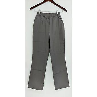 Denim & co. Petite leggings strekk støvel cut Grey A01724
