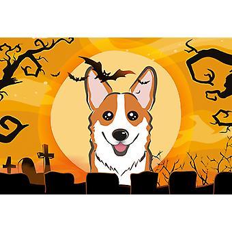 Carolines schatten BB1812PLMT Halloween rode Corgi stof placemat