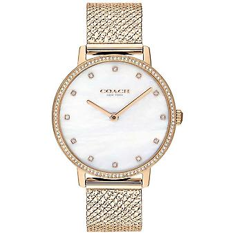 Coach   Womens   Audrey   Rose Gold PVD Mesh   Pearl Dial   14503360 Watch