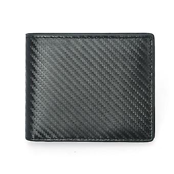 RFID carbon wallet in genuine leather