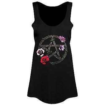 Requiem Collective Floral Pentagram Ladies Floaty Vest