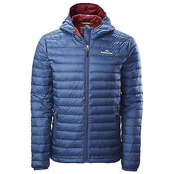 Kathmandu Blue Teal Mens Heli Hooded Down Jacket