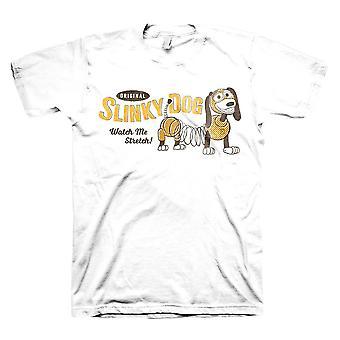 Men's Toy Story Slinky Dog White Crew Neck T-Shirt