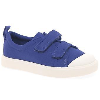 Clarks City FlareLo T Boys Infant Canvas Shoes