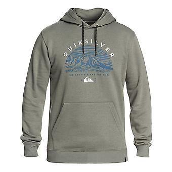 Quiksilver grote log Snow Pullover Hoody in agave Green
