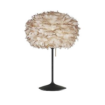 Umage Eos Table Lamp - Light Brown Feather Eos Medium/Black Stand