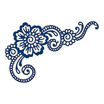 Tattered Lace Mia Flower, Silver
