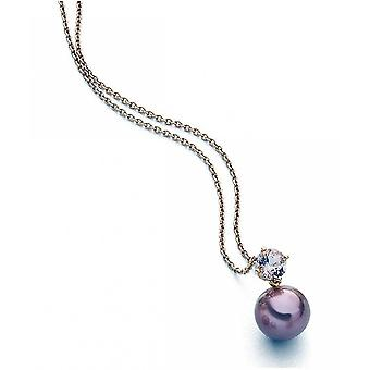 Luna-Pearls - Necklace - Necklace - Rose Gold 750 Freshwater Pearl Ming 12-13 mm