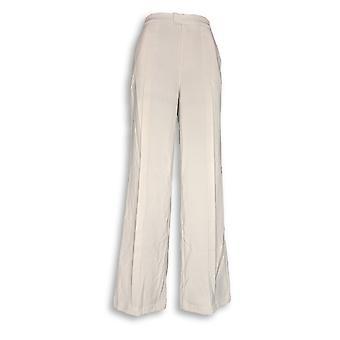 H door Halston vrouwen ' s broek stretch passend Wide Leg beige A301958