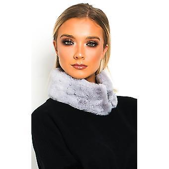 IKRUSH Womens Jennie Faux Fur Collar Scarf
