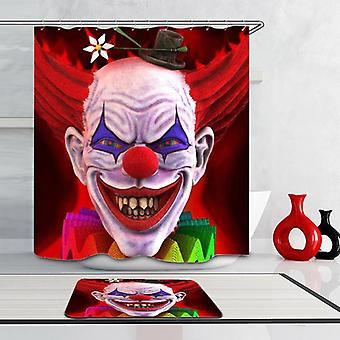 Scary Clown Shower Curtain