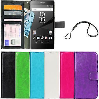 Lommebok veske Sony Xperia Z5 ID/foto lomme + håndleddstropp