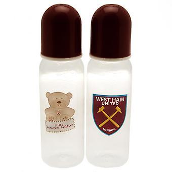 West Ham United FC Baby Feeding Bottles (Pack of 2)