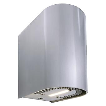 LED vägg konstruktion lampa Adelanto I 2x5W 3000 K 137x70mm IP20 silver aluminium