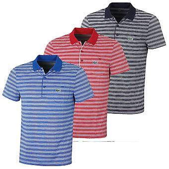 Lacoste Herren Aspirational Streifen Golf Polo Shirt